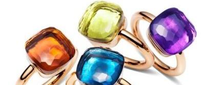 糖果色彩 缤纷珠宝戒指
