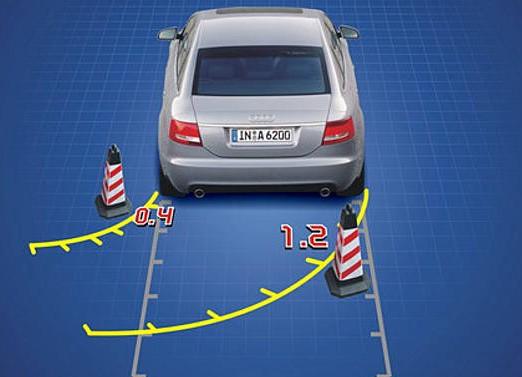 倒车时注意四大盲区 速度要缓慢