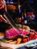 9厘米的沙丁鱼、350克的牛扒是优雅吃肉的最佳选择