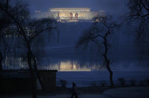韩媒刊登平壤夜景照片
