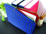 天然棉麻、撞色格子 这个iPad套舒适而文艺