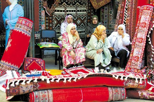 拉巴特地毯市场 做个旁观观光客