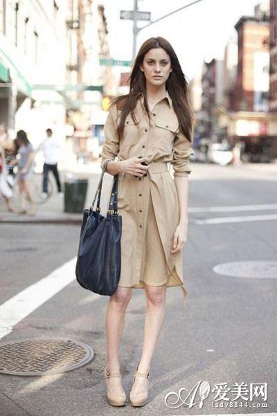 衬衫连衣裙 随意穿搭演绎潮流style