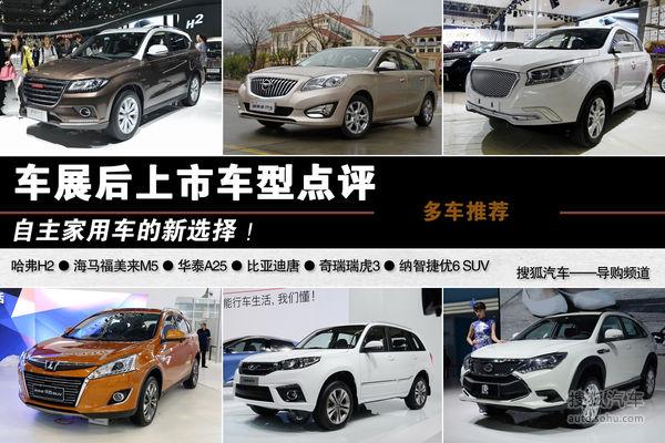 自主家用车的新选择 车展后上市车型点评