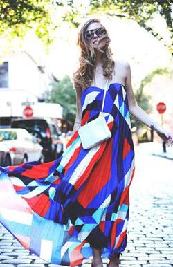 亮色连衣裙赏心悦目 工作日心情满格