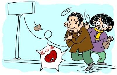 北方老人武汉探亲冻晕了 医生:天冷诱发冠心病