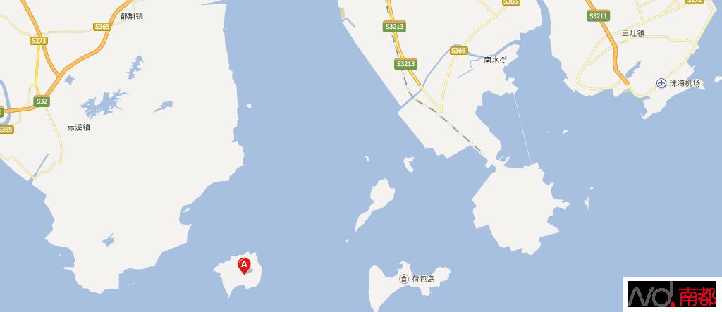 事发珠海高栏港区荷包岛与大襟岛(图a)之间海域