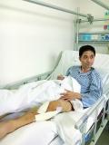 儿患白血病 父又摔伤腿 父为省钱不肯住院