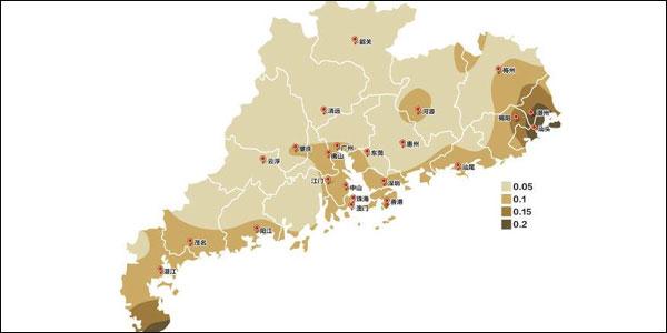 广东属于地震中等危险程度区域 教你如何看懂新版地震区划图