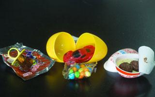 娃爱吃的巧克力蛋和戒指糖 我们抽检的这几款入口安全