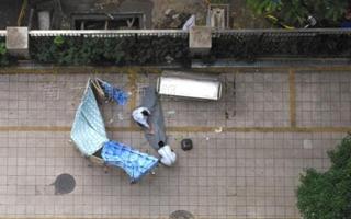 广州一老伯从医院坠楼身亡