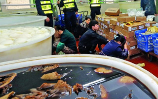 深圳一地下工厂用危险化学品泡出毒牛百叶 月销售额300多万元