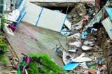 西乡一商业城门前坍塌 两年前已现安全隐患