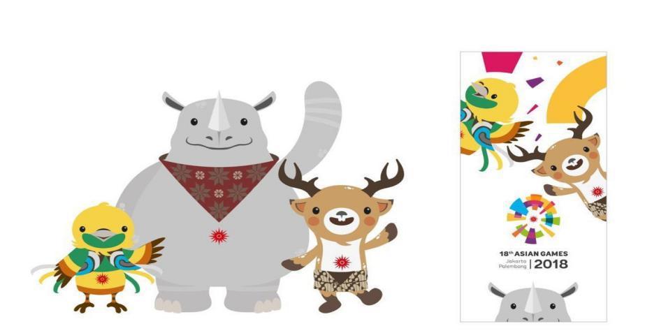 此外,本次亚运会的吉祥物也十分俏皮可爱,是三种印尼特有的野生动物为