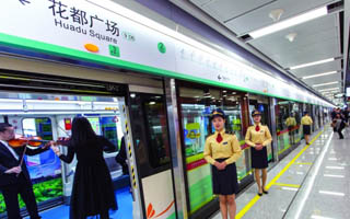 390公里地铁线网 撑起广州三大枢纽建设