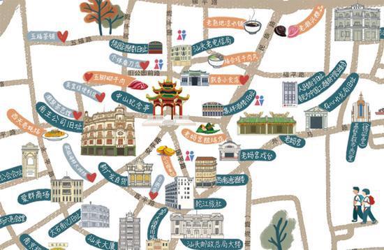汕头90后女生手绘小公园地图 将在大年初一推出