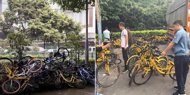 广州整治废弃共享单车 一日清理9000多辆