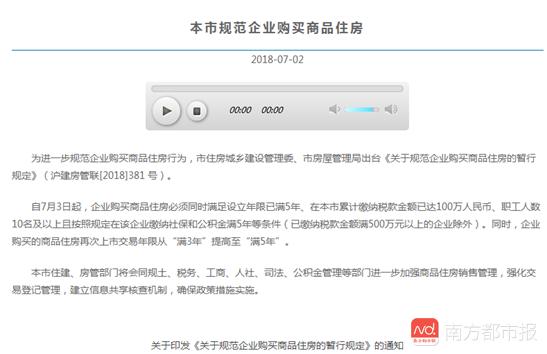 上海,也收紧企业购房资格了!专家:预计将有更多城市跟进