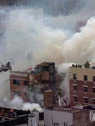 纽约曼哈顿一建筑爆炸倒塌 数十人伤亡或失踪