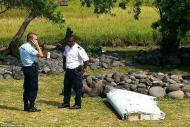 印度洋小岛发现疑似马航MH370机翼残骸